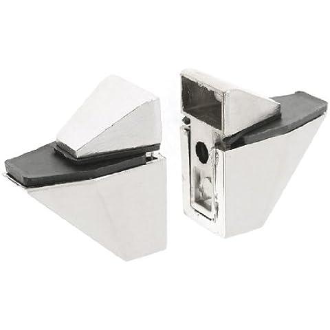 Home armario clavo con soporte para estantería de cristal tabla de madera ajustable soporte abrazadera 2 piezas