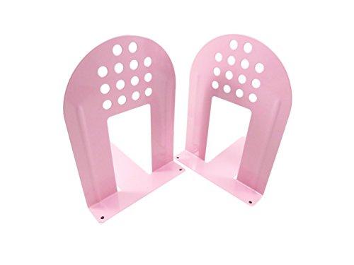 Arch, rutschhemmenden Metall Buchstützen 20,3cm X 53/10,2cm Pretty Pink (Set von 2) Arch Bücherregal