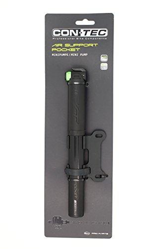 CONTEC Minipumpe Air Support Pocket Stealth 5,5 bar/ 80psi, für alle Ventile SB-verpackt, Aluminium, kompaktes FlipValve Pumpenkopf-System, einfachste Bedienung per Hebel am Kopf, der FlipValve Head ist mit einem flexiblen Schlauch verbunden und kann bis