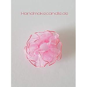 Tropfschutz Tropfenfänger rosa für Taufkerze, Kommunionkerze mit 3-5 cm Durchmesser