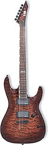 LTD MH 350 210 131 NT RESPLANDOR SOLAR DE LA GUITARRA ELECTRICA DE COLOR MARRON OSCURO