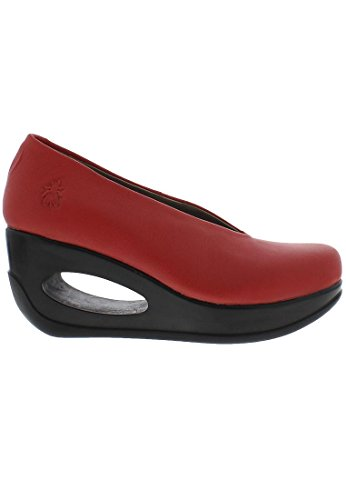 FLY London Hyaz924, sandales compensées Femme Rouge
