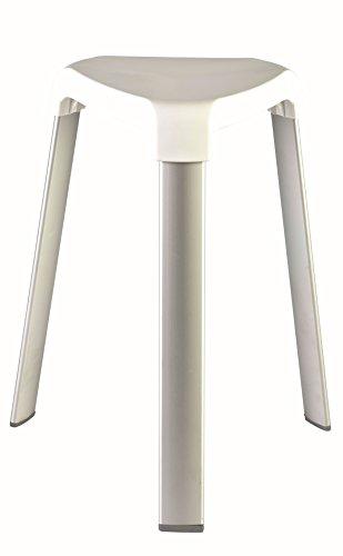 MSV Duschhocker Duschhilfe Duschsitz Badhocker aus Alu und Kunststoff
