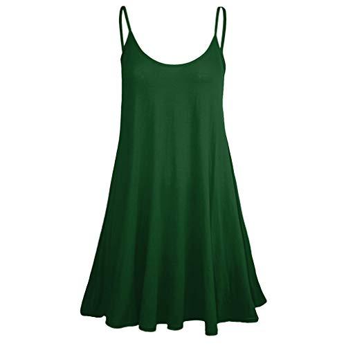 Bellelove Sommer Kleid Kleider Sommerkleid Damen Sexy T Shirt Kurzes Ärmel Swing Tunika A Linien Bandeau Asymmetrische Gothic Vintage Petticoat