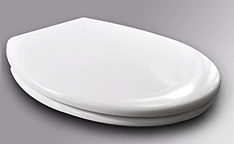 WOLTU 2327-1 Antibacterial Toilet Seat with Fast Fix/Quick, Soft Close