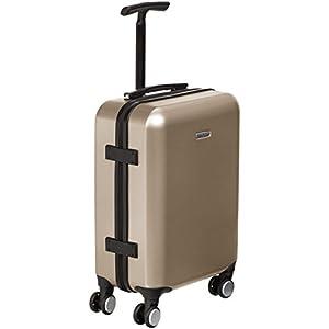 AmazonBasics Bagage de cabine métallisé avec roulettes pivotantes, 55 cm, Doré