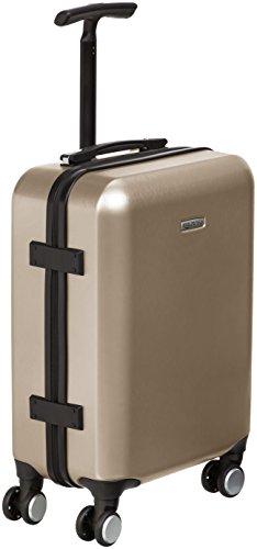 AmazonBasics - Trolley a 4 ruote multidirezionali, metallizzato, bagaglio a mano, 55 cm, Oro