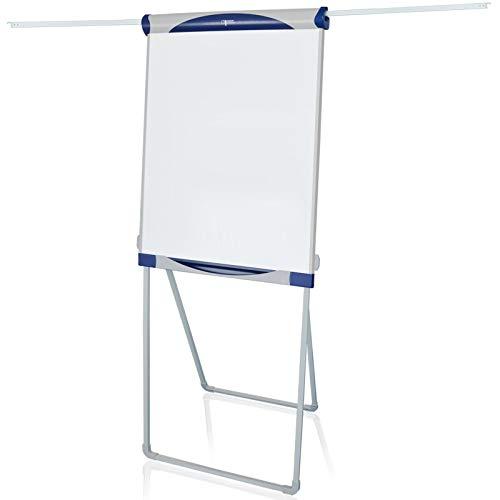 Flipchart Baracuda | Klappbar & transportabel | Stufenlos höhenverstellbar | Vierbein Ständer | 2 ausfahrbare Papierhalter | beschreibbar & magnetisch