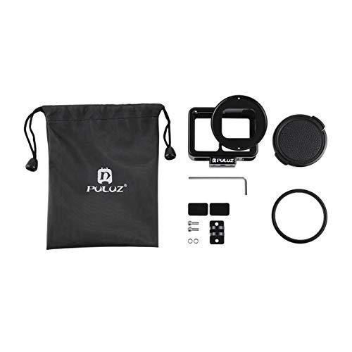 ULUZ Für GoPro HERO7 silberweißer Metallkäfig mit Sicherheitsrahmen mit UV-Linse