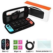 Schalter, der Fall für Nintendo Switch, Switch Zubehör Kit für Nintendo Schalter, Reise Hartschale Schutzhülle, Ladekabel, Displayschutzfolien, Joy-Con Covers Switch Accessories -