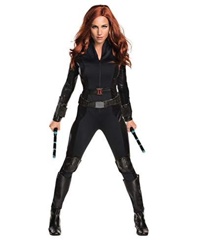 (Horror-Shop Captain America Lizenzkostüm Black Widow Overall S)