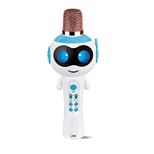 TKFY Mikrofon drahtlose Kinder-Karaoke-Mikrofon Boys & Girls Weihnachten oder Geburtstag Geschenke tragbare Karaoke-Maschine für Kinder Pop,Blau