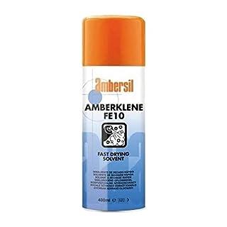 12 x AMBERSIL AMBERKLENE FE10 Fast Drying Solvent 400ML Bulk Box CASE Discount