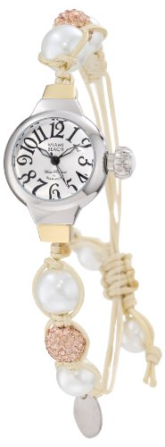 Glam Rock Miami Beach Art Deco MBD27105 26mm Stainless Steel Case Gold Plated Stainless Steel Mineral Women's Watch