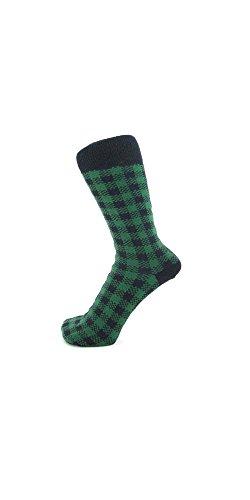 Herren-Socken / Söckchen, aus Baumwolle, Cotton-Rich-Produkt Gr. 39-45, Grün (Green Check)