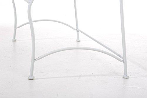 CLP Gartenbank DIVAN im Landhausstil, aus lackiertem Eisen, 106 x 51 cm – aus bis zu 6 Farben wählen Weiß - 9