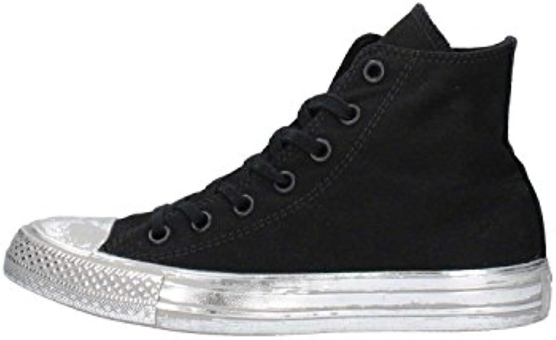 Converse - 156763C CT AS HI Canvas Coloree Rubber, scarpe da ginnastica unisex, nero argento | Essere Nuovo Nel Design  | Uomini/Donna Scarpa