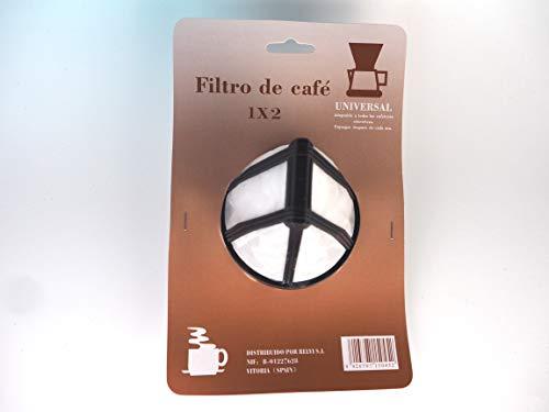 Sanfor 1x2 Filtro Permanente para Cafetera, Nylon