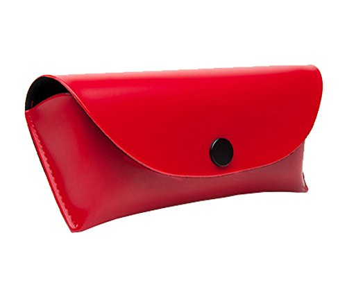 Gläser Box Weichem Leder Rahmenlose Retro Brillen Box, Ohne Korrektur Y1