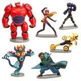 Big Hero 6 Figure Play Set - 6 Pcs Set Hiro Baymax Mech (Red) Go Go Honey Lemon Wasabi Fred by Big Hero 6