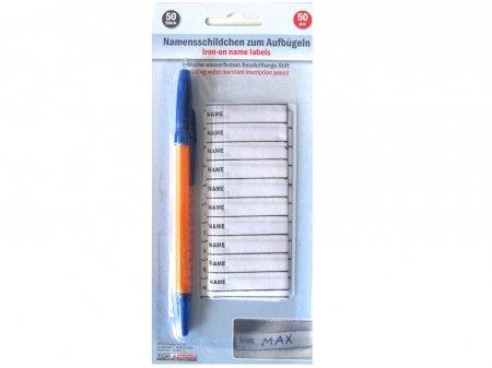 Namensschilder 50er + Stift zum Aufbügeln