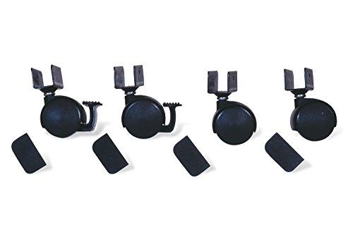Pinolino 560003 Rollensatz mit U-Aufnahme, schwarz