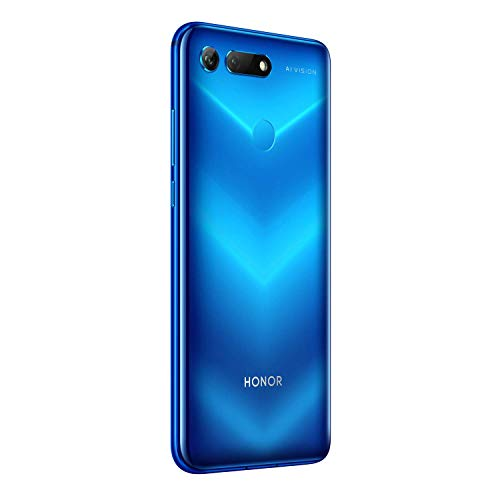 Honor View 20 Smartphone débloqué 4G (6,4 pouces, 8Go RAM, 256Go ROM, Double Nano SIM, Android P) Phantom Blue - [Version française]