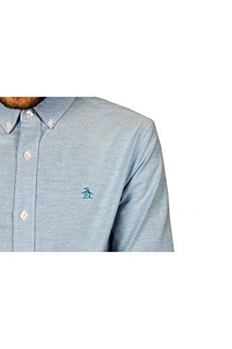 Original Penguin Herren Freizeithemd Updated Core Oxford Blue (Diva Blue)