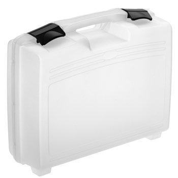 Kunststoffkoffer leer in transparent, Außenmaß: 370x307x121 mm - 4