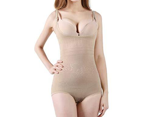 AYALY Frauen Ganzkörper Shaper Blumendruck Open Crotch Tummy Control Shapewear (Cupid Kostüm Babys)