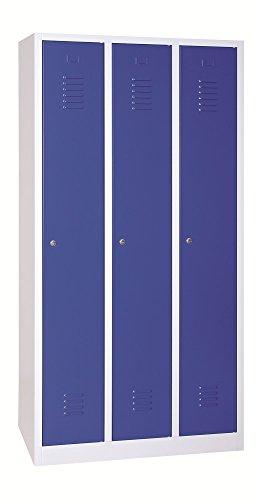 Garderoben-Stahlspind PROsteel Grau/Blau 900x500x1800 mm Garderobenspind