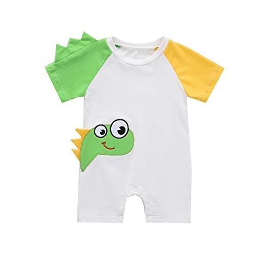 ommer Unisex Baby Short Sleeve Bodysuit Cotton Comfortable Cute Pattern Overall Damen Kurz Bekleidungs Set ()