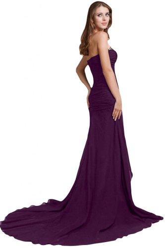 Sunvary Fashion una linea Sweetheart Chiffon lungo da sera, abiti Grape
