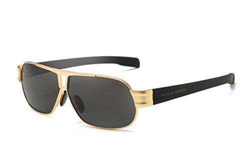 AORON Polarisierte Sonnenbrille Herren Freizeit-UV400Brille Klassisches Design Brillen Oculos Stecker Cool Eyewear Zubehör 8516 - goldfarben