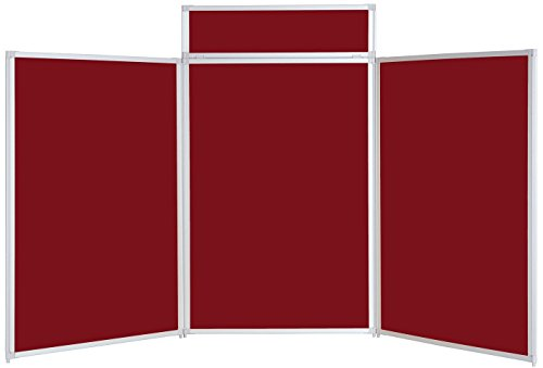 Metroplan 1200 x 2100 mm BusyFold Tabletop Display – Burgundy on Line