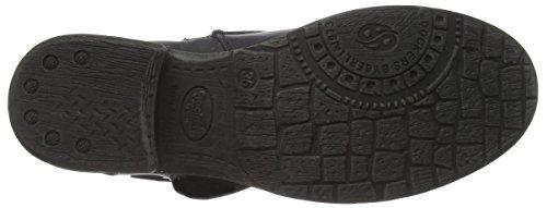 Dockers by Gerli 36ka705-610130, Bottes Motardes fille Noir (schwarz/braun 130)