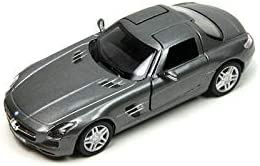 Plakalı Mercedes Benz SLS AMG 1:36 Metal Model Araba Füme KT5349D