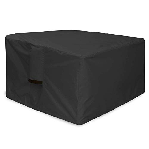 JS-YHLUSI Schutzhülle, Draussen Quadrat Feuergrubentisch Staubschutz (Upgrade), Polyester Wasserdicht Anti-UV, Passend für Terrasse,Black,36 * 36 * 20inches -