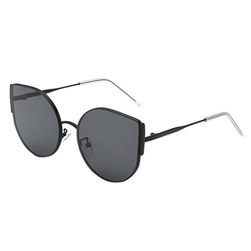 iCerber sonnenbrillen Chic Lässig Einzigartig Mode Mann Frauen unregelmäßige Form Sonnenbrille Brille Vintage Retro Style UV 400 ❀❀2019 Neu❀❀(SSchwarz)