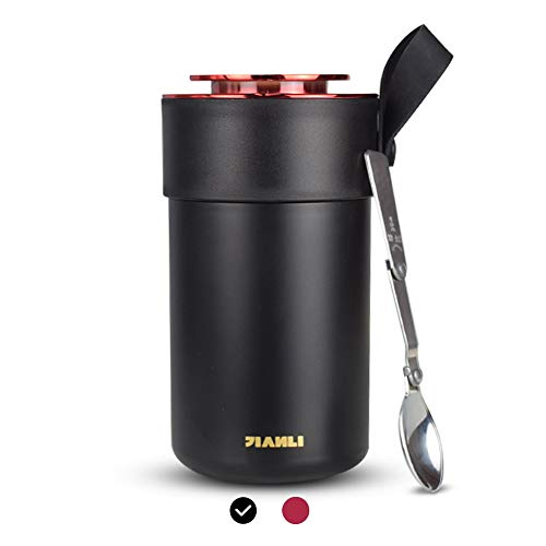 Opard Thermobehälter Lunchbox 600ml-Edelstahl Isolierbehälter...