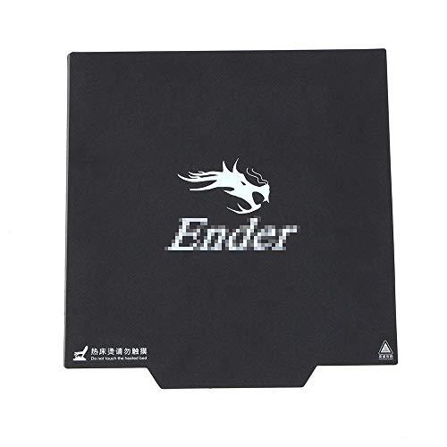 TOOGOO Etichetta di Ricambio per Stampante Ender-3 da 9,2 X 9,2 Pollice Codice di Etichetta Adesiva per Superficie Magnetica da 9 Pollice con Etichetta da 3 M 235 X 235mm per Ender-3