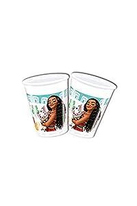 Disney 49767Moana Vasos Decoración Plástico, 200ml, Pack de 8
