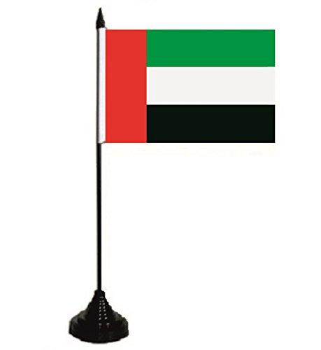 U24 Tischflagge Vereinigte Arabische Emirate VAE Fahne Flagge Tischfahne 10 x 15 cm