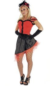 Ladies XS Saloon Girl Costume For Fancy Dress Moulin Rouge Wild West (Wild West Saloon Girl Fancy Dress Kostüme)