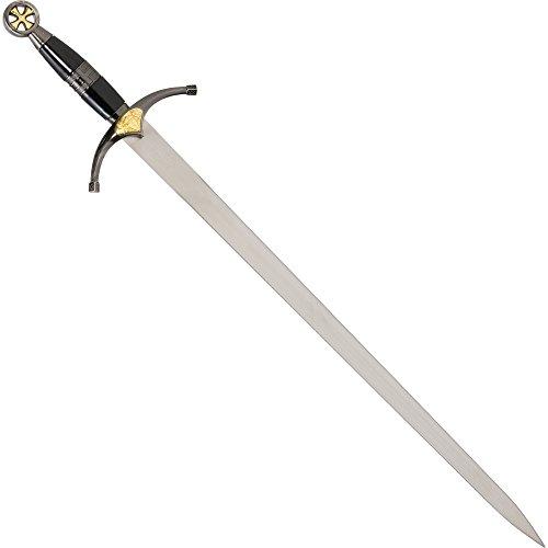 Dekowaffe Kreuzritterschwert, Kurzschwert mit Scheide, aufwändige