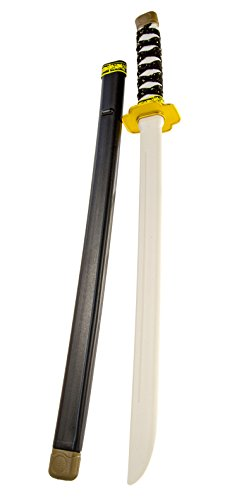 Kostüm Das Wilde Kind Ninja - N27509 Kinder Ninja Spielzeug Samurai-Schwert Ninja-Kostüm Katana Ninja-Säbel Kostüm Verkleidung Schwarz 60cm Waffe