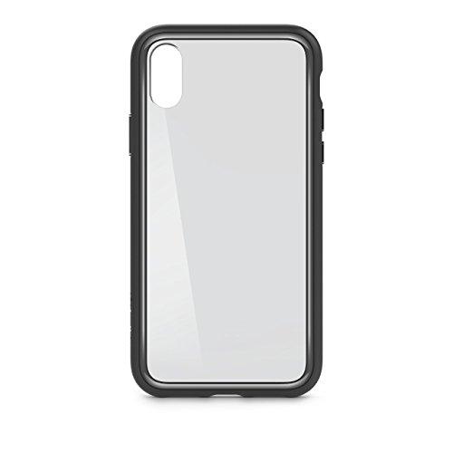Belkin SheerForce Elite Schutzhülle (Polycarbonat, Sturzsicherheit, Anschlüsse frei zugänglich, geeignet für iPhone X) spacegrau
