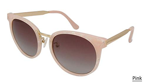 LKVNHP High Grade Cat Eye Sonnenbrille Frauen Polarisierte Tr90 Sonnenbrille Metall Tempel Vintage Spiegel Objektiv Shades Mit Box   Rosa (Aviators Spiegel-objektiv Ray Ban)