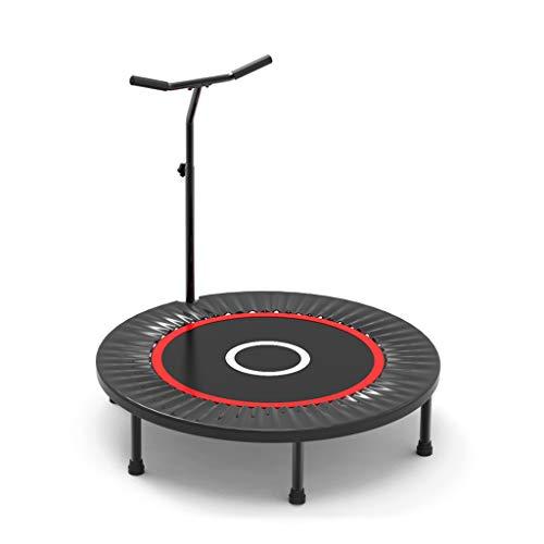 Trampolino fitness professionale adulti trampolino da allenamento pieghevole sportivo con corrimano regolabile - esercizio trampolino da allenamento - trampolino piccolo rimbalzante con sistema a mo
