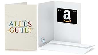 Amazon.de Grußkarte mit Geschenkgutschein - 10 EUR (Alles Gute)